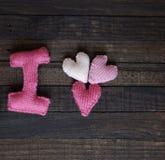 Fundo do Valentim, coração, dia de Valentim, presente, feito a mão Fotografia de Stock Royalty Free