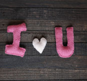 Fundo do Valentim, coração, dia de Valentim, presente, feito a mão Fotos de Stock Royalty Free