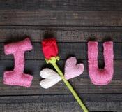 Fundo do Valentim, coração, dia de Valentim, presente, feito a mão Fotos de Stock