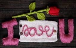 Fundo do Valentim, coração, dia de Valentim, presente, feito a mão Foto de Stock Royalty Free