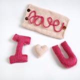 Fundo do Valentim, coração do amor, dia de Valentim, diy Fotografia de Stock Royalty Free