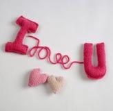 Fundo do Valentim, coração do amor, dia de Valentim, diy Fotos de Stock