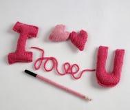 Fundo do Valentim, coração do amor, dia de Valentim, diy Fotografia de Stock