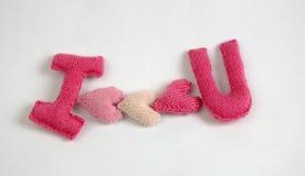 Fundo do Valentim, coração do amor, dia de Valentim, diy Foto de Stock Royalty Free