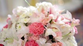 Fundo do Valentim do casamento da flor das rosas Fotos de Stock Royalty Free