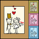 Fundo do Valentim do vetor, casamentos ilustração stock
