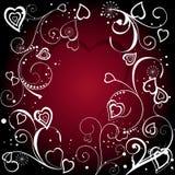 Fundo do Valentim vermelho Imagem de Stock Royalty Free