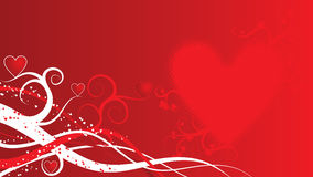 Fundo do Valentim, vetor Imagens de Stock Royalty Free