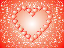 Fundo do Valentim, vetor Fotografia de Stock