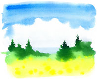 Fundo do verão ilustração stock