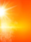 Fundo do verão com um sol Eps 10 Imagens de Stock