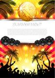 Fundo do verão da música - vetor Imagens de Stock