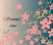 Fundo do verão da mola Ilustração do Vetor