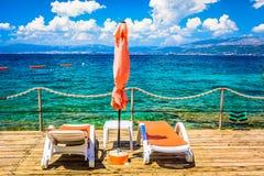 Fundo do verão do mar de adriático, Croácia Imagens de Stock Royalty Free
