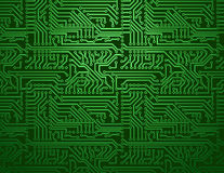 Fundo do verde da placa de circuito do vetor Fotografia de Stock