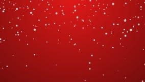 Fundo do vermelho da queda de neve Fotos de Stock