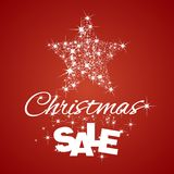 Fundo do vermelho do disconto da venda da estrela do Natal ilustração royalty free