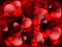 Fundo do vermelho do dia de Valentim Foto de Stock Royalty Free