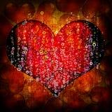 Fundo do vermelho do dia do Valentim ilustração royalty free