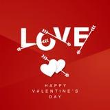 Fundo do vermelho do logotype das setas de amor ilustração royalty free