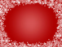 Fundo do vermelho do X-Mas do floco de neve Foto de Stock Royalty Free