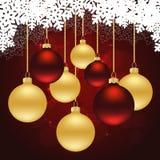 Fundo do vermelho do Natal Fotos de Stock Royalty Free