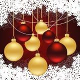 Fundo do vermelho do Natal Imagens de Stock