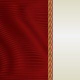 Fundo do vermelho e do ecru Fotos de Stock Royalty Free