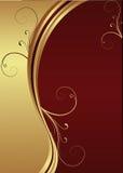 Fundo do vermelho e do ouro do vetor Foto de Stock Royalty Free