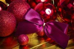 Fundo do vermelho do Natal Foto de Stock