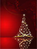 Fundo do vetor com árvore de Natal Imagens de Stock