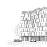 Fundo do vetor com apartamento ou o escritório moderno  ilustração stock