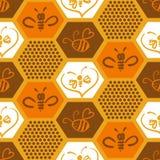 Fundo do vetor com as abelhas para seu projeto Imagens de Stock