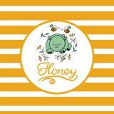 Fundo do vetor com as abelhas para seu projeto Fotografia de Stock