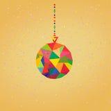 Fundo do vetor com as bolas da decoração do Natal Fotos de Stock Royalty Free