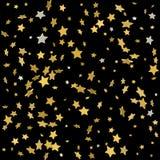 Fundo do vetor com as estrelas do ouro 3d Fundo dos feriados Fotos de Stock