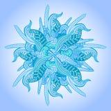 Fundo do vetor com as flores incomuns abstratas. Teste padrão brilhante do inverno com o ornamento floral para seu projeto. Imagens de Stock Royalty Free