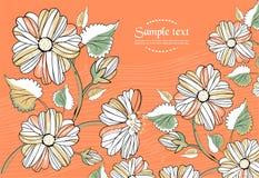 Fundo do vetor com as flores no estilo retro Imagens de Stock