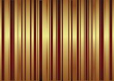 Fundo do vetor com as listras vermelhas e douradas Imagens de Stock