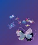 Fundo do vetor com borboleta Ilustração Royalty Free