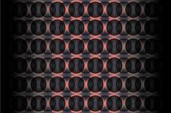 Fundo do vetor com círculos do espaço ilustração stock