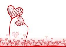 Fundo do vetor com corações ilustração do vetor