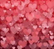 Fundo do vetor com corações Imagens de Stock Royalty Free