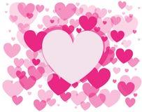 Fundo do vetor com corações Fotos de Stock