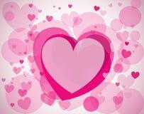 Fundo do vetor com corações Fotografia de Stock