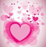 Fundo do vetor com corações Foto de Stock