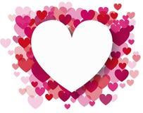 Fundo do vetor com corações Fotografia de Stock Royalty Free