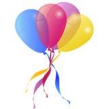 Fundo do vetor com feriado dos balões Imagem de Stock Royalty Free