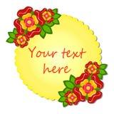 Fundo do vetor com flor Quadro para o texto Fotos de Stock