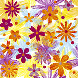 Fundo do vetor com flores Fotos de Stock